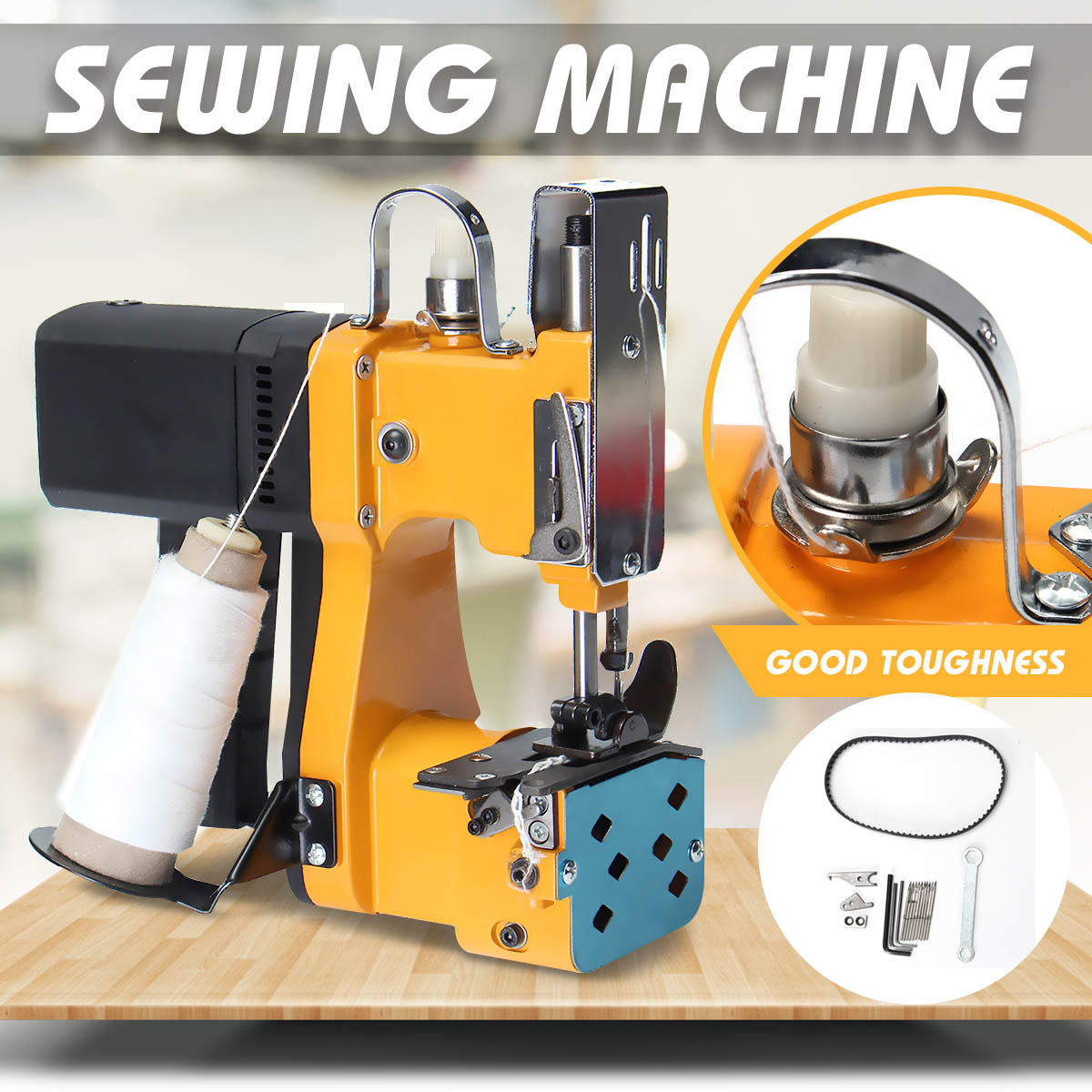 220V Portable Electric Sewing Machine Sealing Machines Kit for Home Textile Industrial Portable Bag Closer Stitching Mac фото