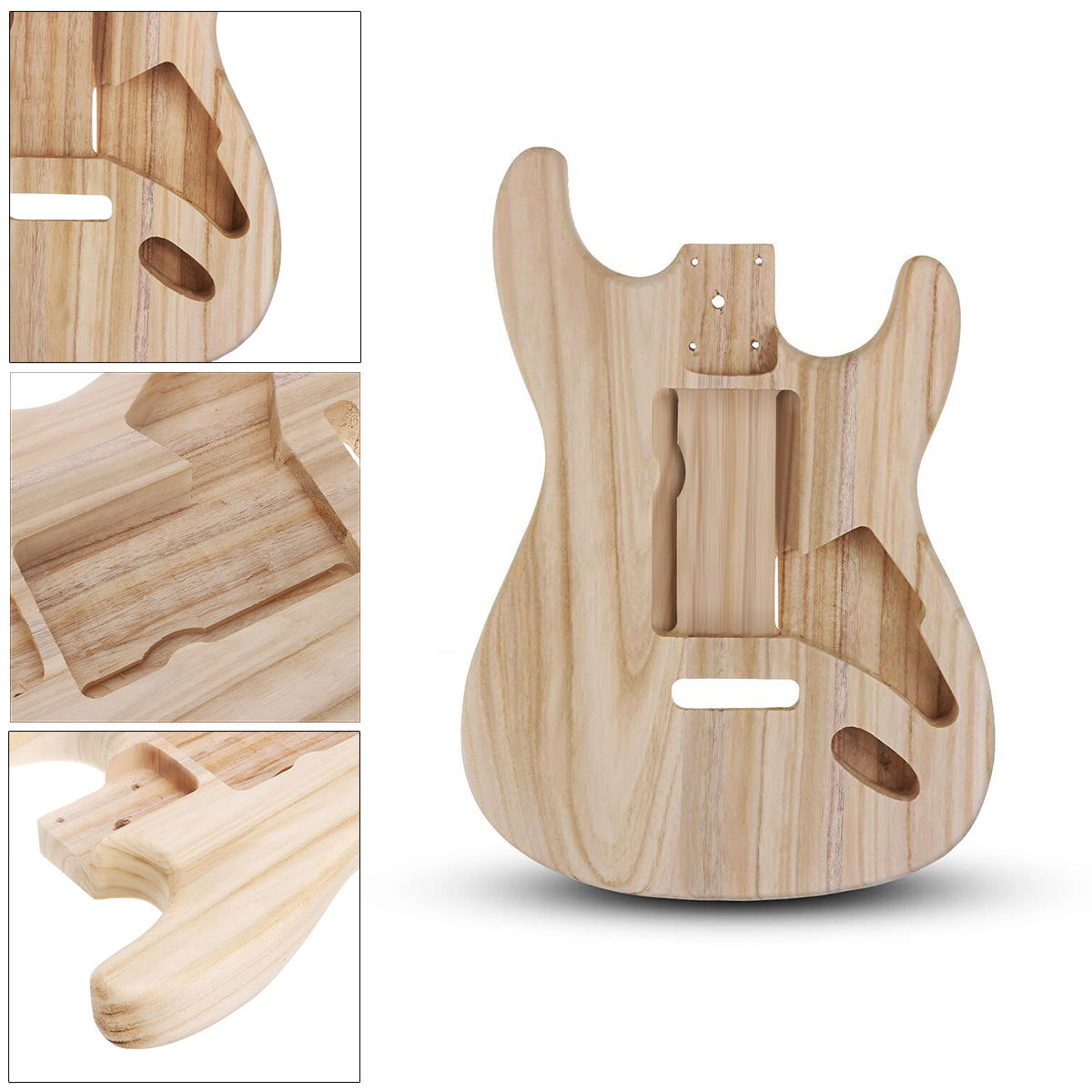 DIY Polished Maple Wood Type ST Electric Guitar Barrel Body for Guitar Replace Parts - 3