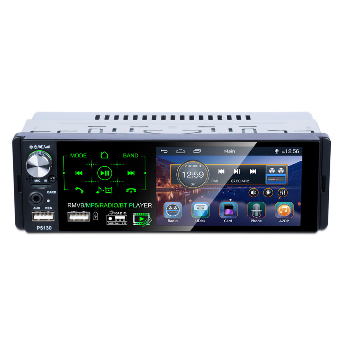 P5130 4.1 Inch 1 DIN Car Radio Touch Screen MP5 Player FM AM RDS bluetooth AUX Backup Camera with Steering Wheel Control