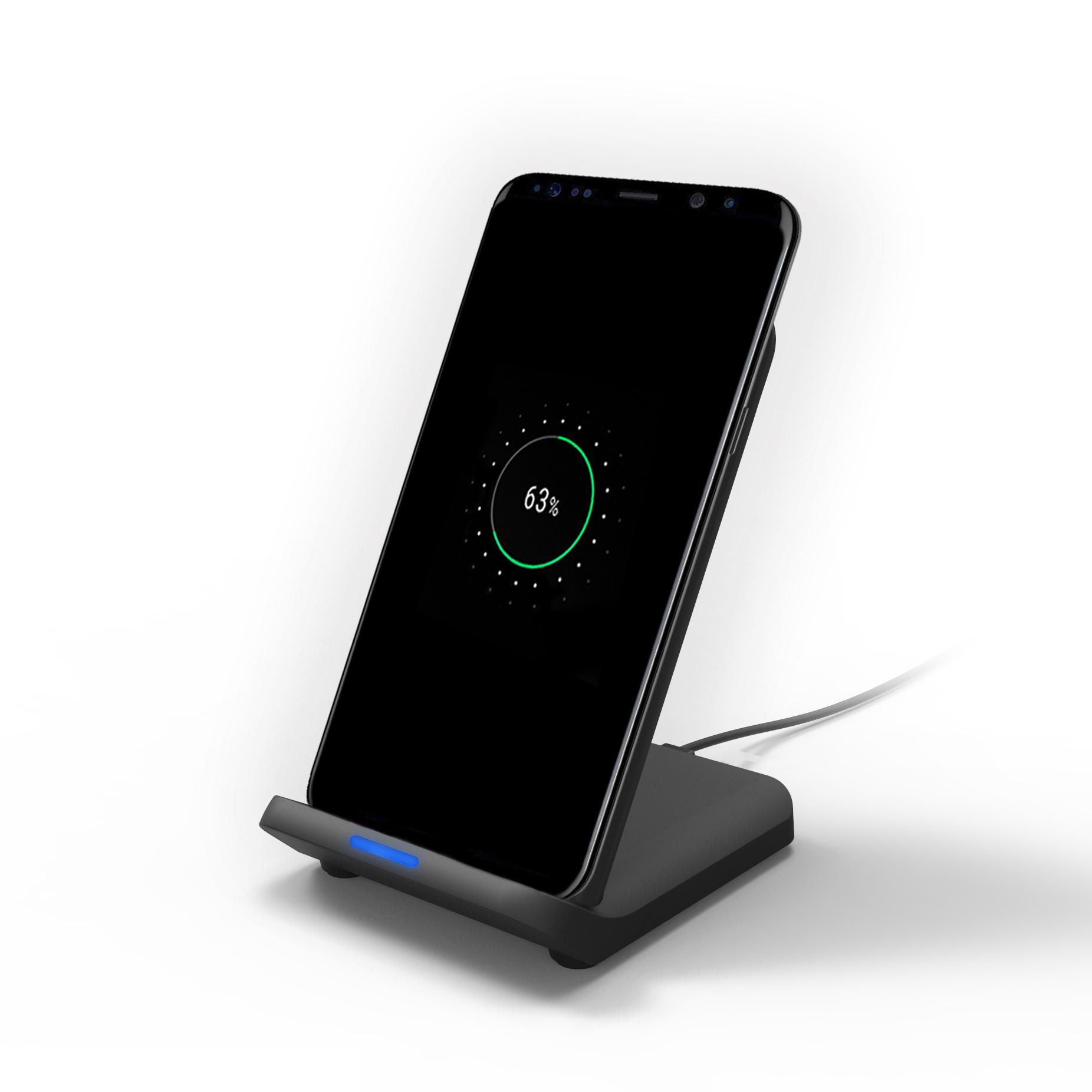 Bakeey K9 Qi 15 Вт с двойной катушкой для быстрой зарядки Беспроводная док-станция для зарядного устройства Pad для Samsung S10 + Xiaomi 9T 9Pro HUAWEI P30Pro