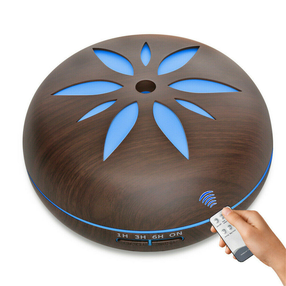 550ML LED Oil Ultrasonic Aroma Aromatherapy Diffuser Air Humidifier Purifier - 2