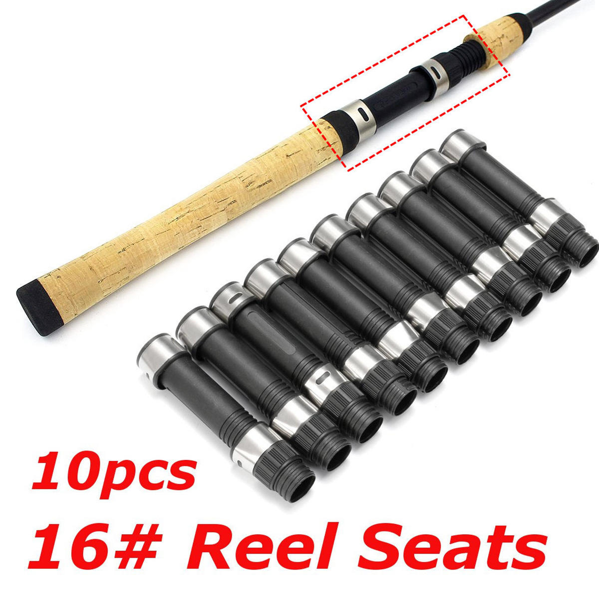 ZANLURE Lot 10 Pcs DPS Style 16# Reel Seat Spinning Fishing Rod Building and Repair High Quality