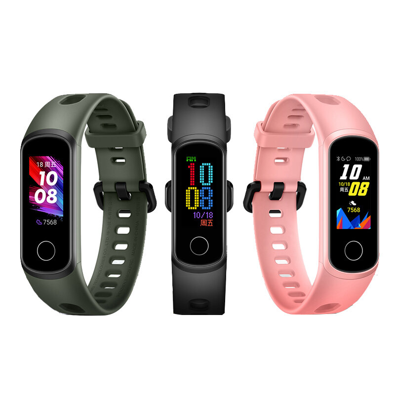 Original Huawei Honor Band 5i Full Touch Armbånd SpO2 Blood Oxygen Sleep Monitor USB Opladning Smart Watch (kinesisk version)