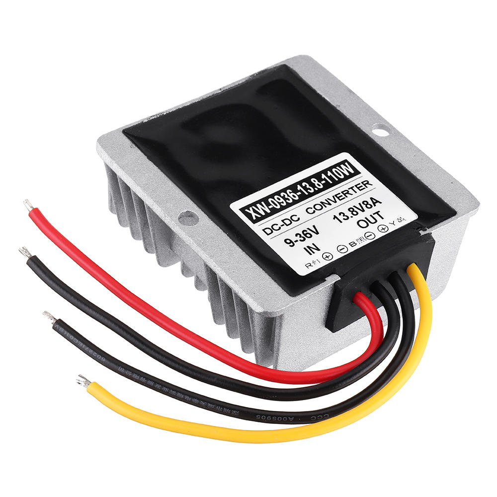 9-36V To 13.8V 8A 110W DC Buck Boost Power Converter Waterproof Multiple Protection  Step Down Module Voltage Adapter for Car Alarms LED Car Display