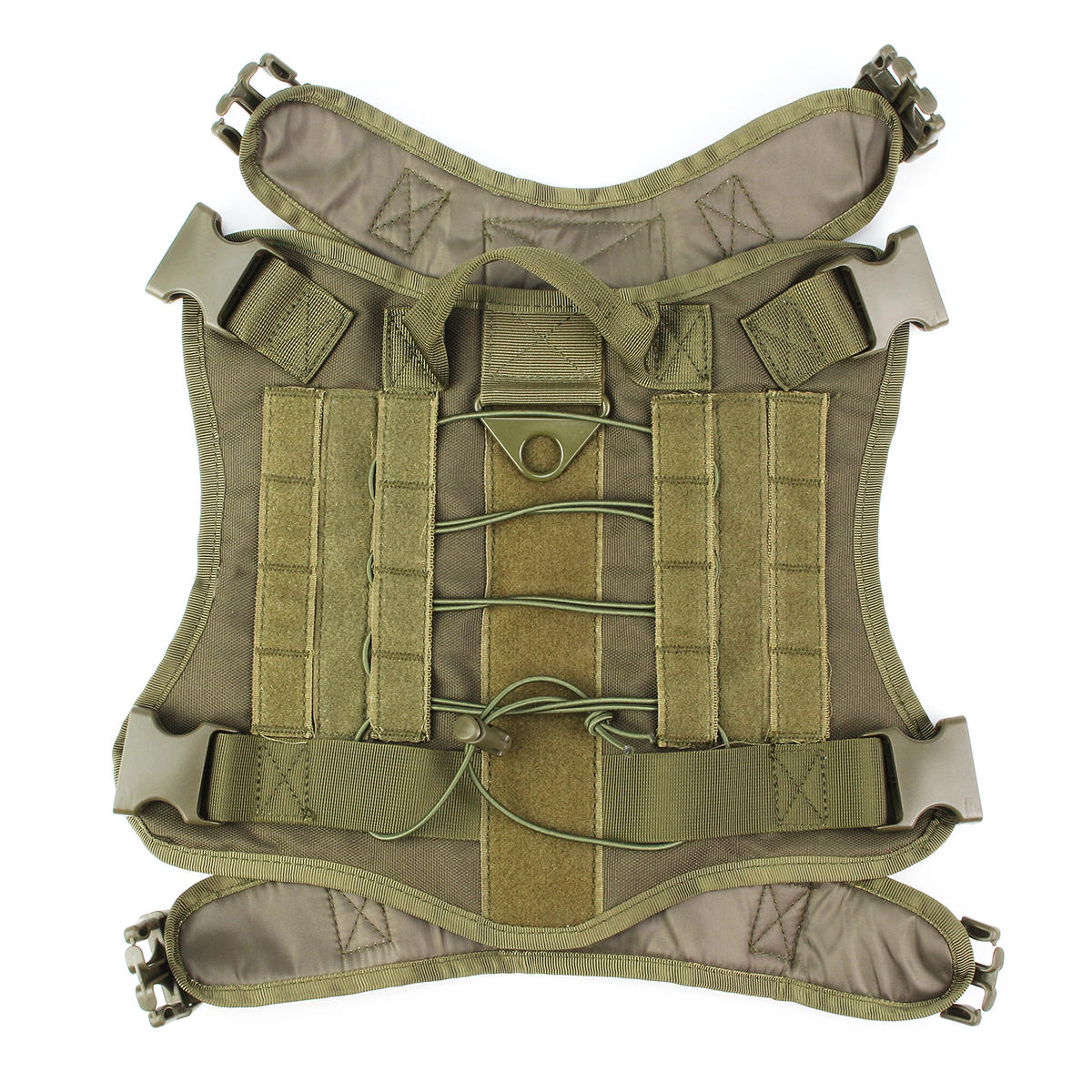 L Size 1000D Pet Trainer Nylon Outdoor Military Tactical Dog Training Molle Compact Vest Harness MOLLE System Clothes - 4