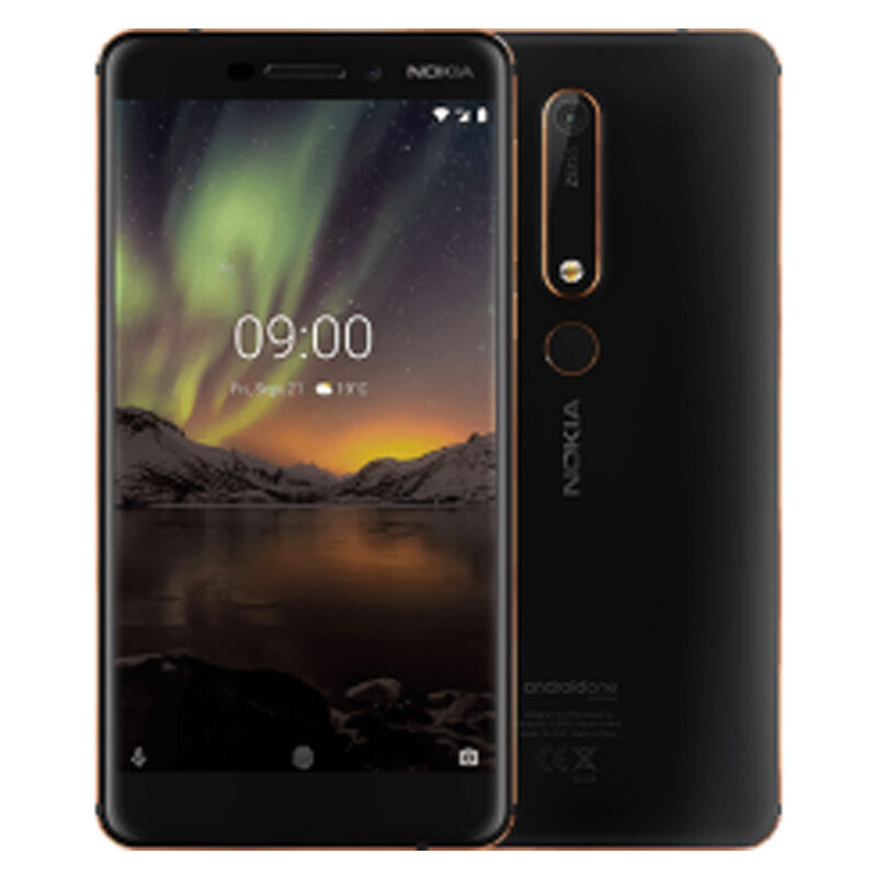 Nokia 6.1 Global Version 5.5 inch FHD NFC Android 9.0 16MP+8MP Cameras 3000mAh 3GB RAM 32GB ROM Snapdragon 630 Octa Core 4G SmartPhone