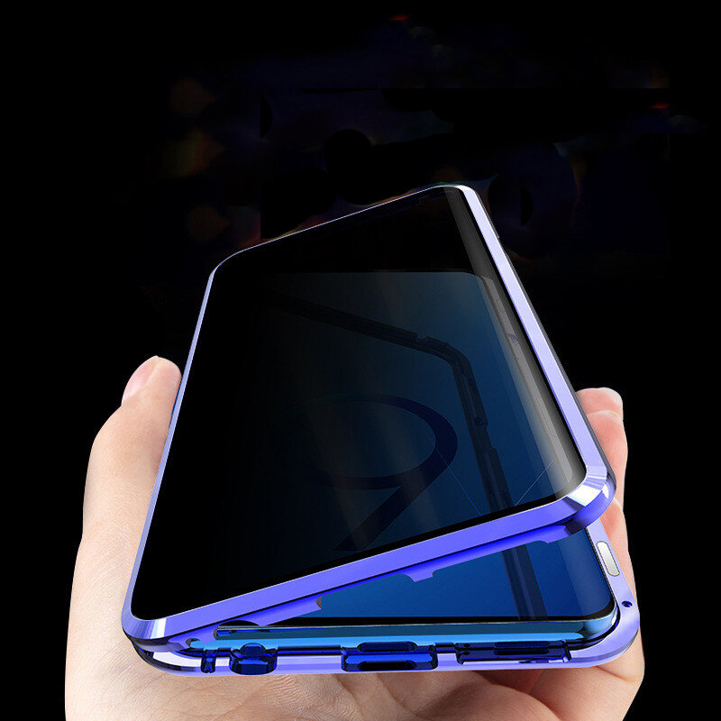 Bakeey Anti-peeping Magnetic Adsorption Metal Double-sided Tempered Glass Protective Case For Samsung Galaxy S9/S9 Plus/S9+