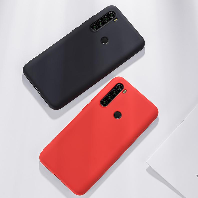ل Xiaomi Redmi Note 8 حافظة Bakeey سائل أملس سيليكون غطاء خلفي مطاطي حافظة واقية غير أصلية