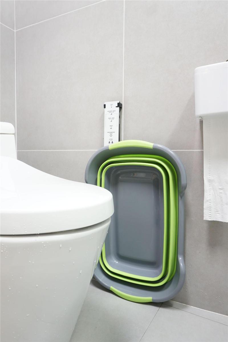 Baby Shower Portatile Silicone Vasche da bagno per animali domestici Accessori da bagno Pieghevoli Vasca da bagno antiscivolo Sicurezza Sicurezza Gatto Cane Vasche da bagno Cucina Rack di stoccaggio - 8