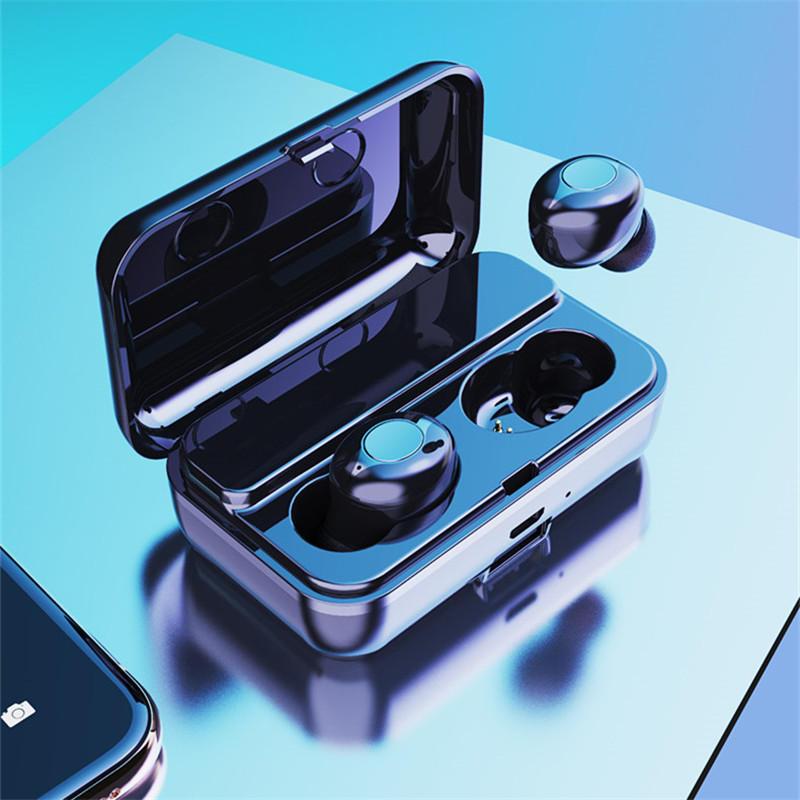 F9 TWS Dual Bluetooth 5.0 Беспроводная стереосистема Наушник IPX5 Водонепроницаемы Сенсорное нажатие кнопки Auto Pair Иг