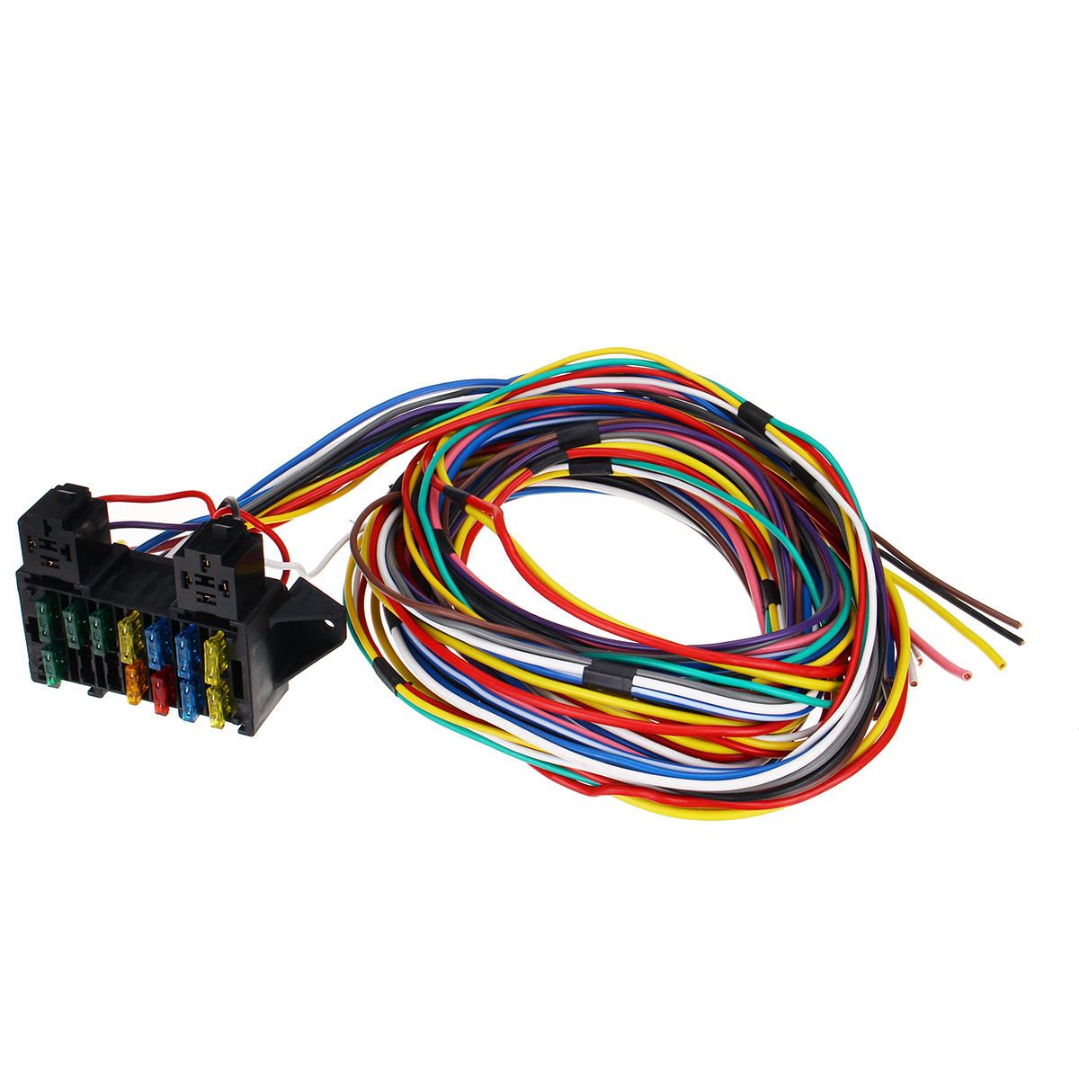 14 Circuit Universal Wiring Harness Bumper Wire Kit 12v Durability Car Hot Rod Street