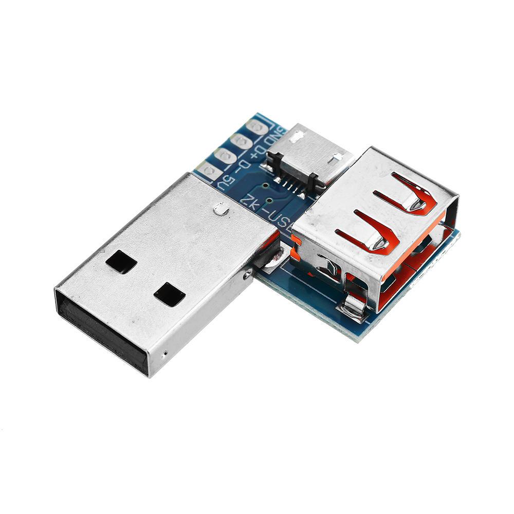 5 قطع USB محول مجلس مايكرو USB إلى USB أنثى موصل ذكر إلى أنثى رأس 4 وعاء 2.54 ملليمتر