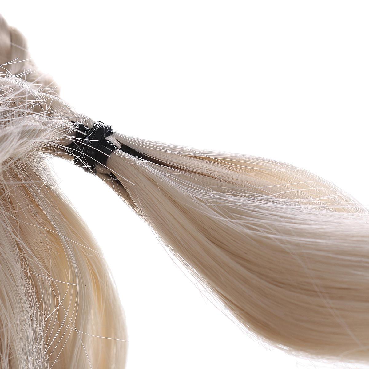 24 Damen natürliche gewellte Lace Front Perücke Mädchen goldene blonde lockige synthetische Haare - 6