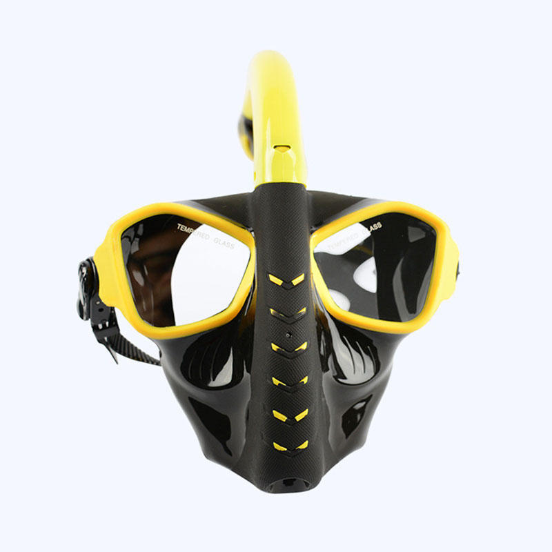 Adults Full Face Dry Snorkeling Mask Toughened Glass Shatterproof Anti fog Diving Mask - 6