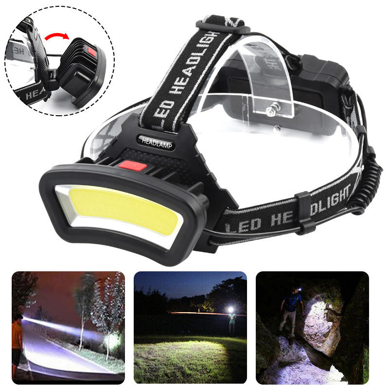 BIKIGHT TH-T123 600LM COB LED Headlamp USB Rechargeable 4 Modes Flashlight Mini Waterproof Headlight Torch Built-in 1865