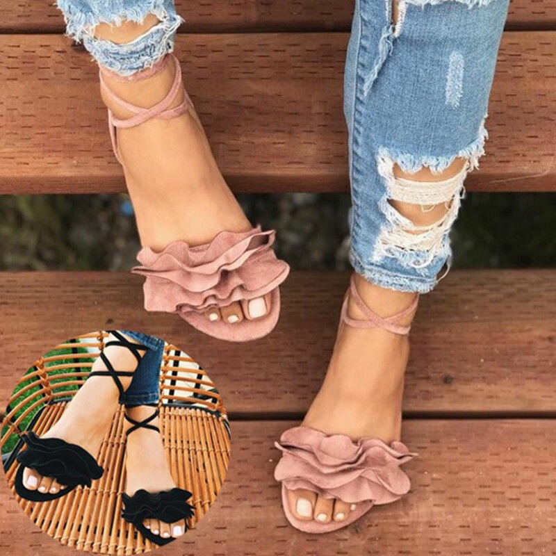 Women Bohemia Toe Ring Slip On Casual Summer Flat Sandals - 1