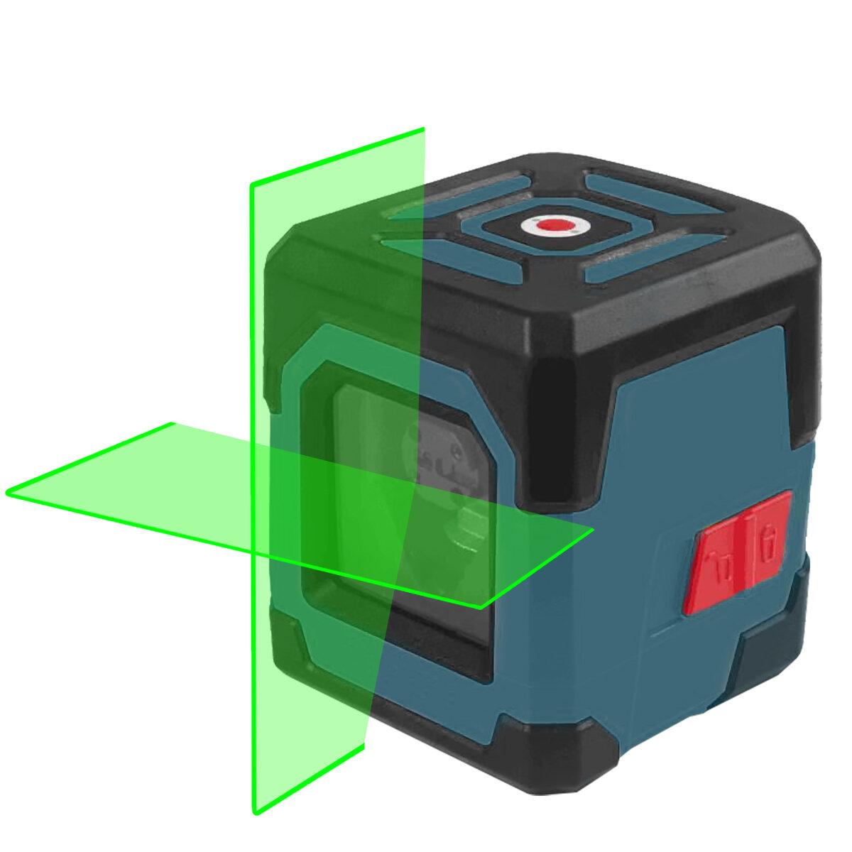 HANMATEK LV1G Laser Level Green Cross Line Laser with Measuring Range 50ft, Self-Leveling Vertical and Horizontal Line