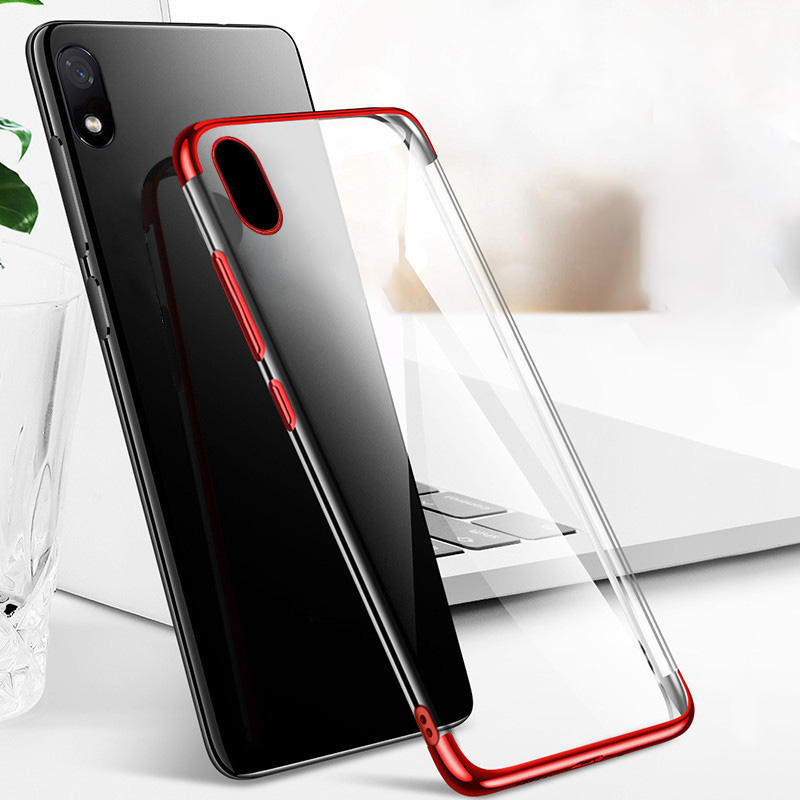 Bakeey Plating Shockproof Transparent Soft TPU Protective Case for Xiaomi Redmi 7A