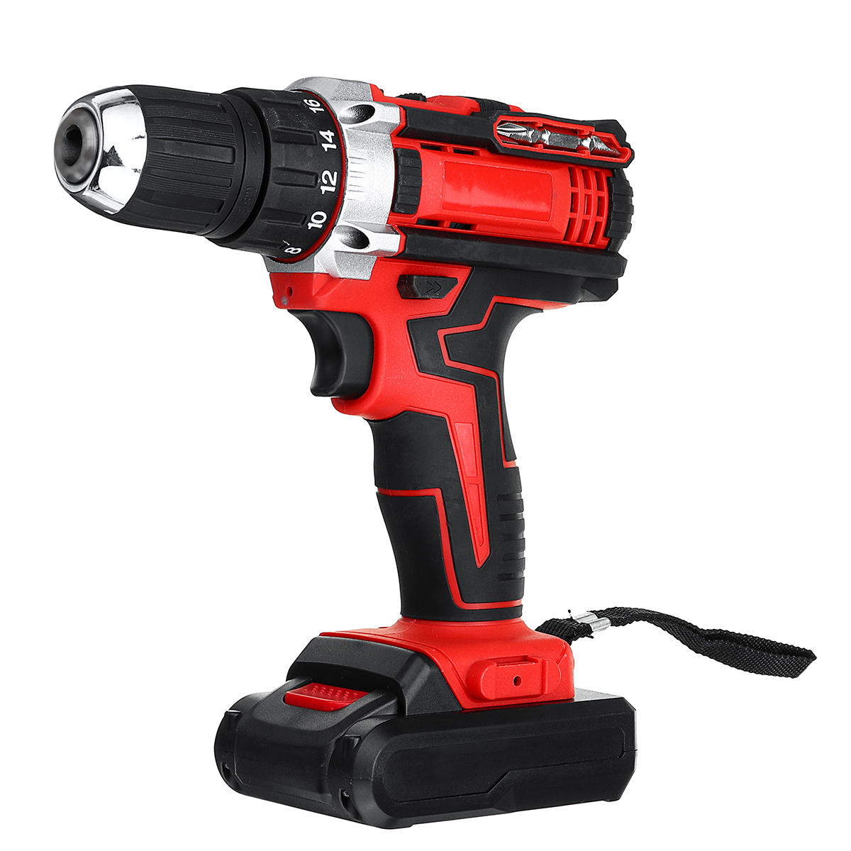 48V 25+3 Gear Rechargable Electric Drill Cordless Impact Drill With 1 or 2 Li-ion Battery With LED Working Light фото