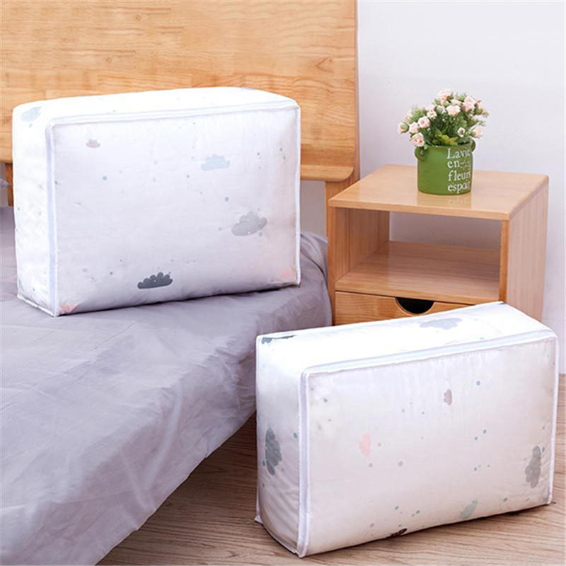 Folding Washable PEVA Quilts Storage Bags Portable House moving Container Clothes Storage Bag - 6