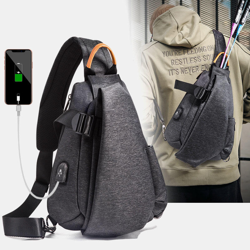 Men Fashion Casual Crossbody Bag Chest Bag For Outdoor Travel