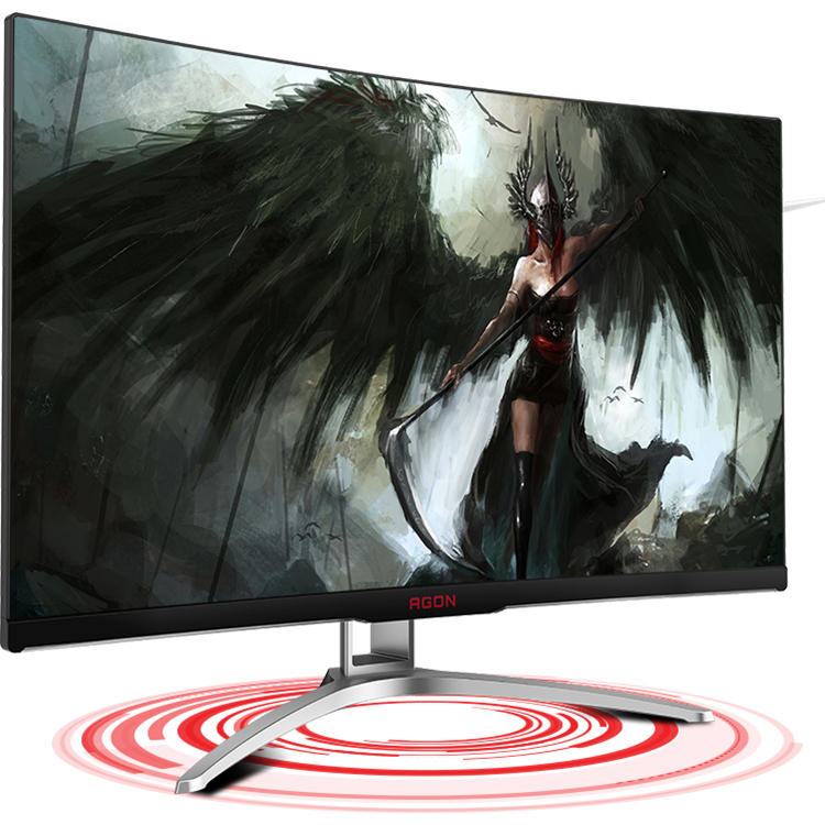 XIAOMI Ecosystem AOC AG322FCX1 Game E Sports Monitor 31.5 Inch 144Hz Refresh Rate 178° Viewing Angle 1800R Large Curvature 3000:1 High Static Contrast Display - 2