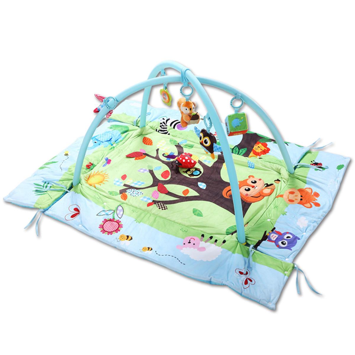3 In 1 Baby Toys Mat Cartoon Soft Newborn Infant Kids Activity Gym Playspot Foam - 3
