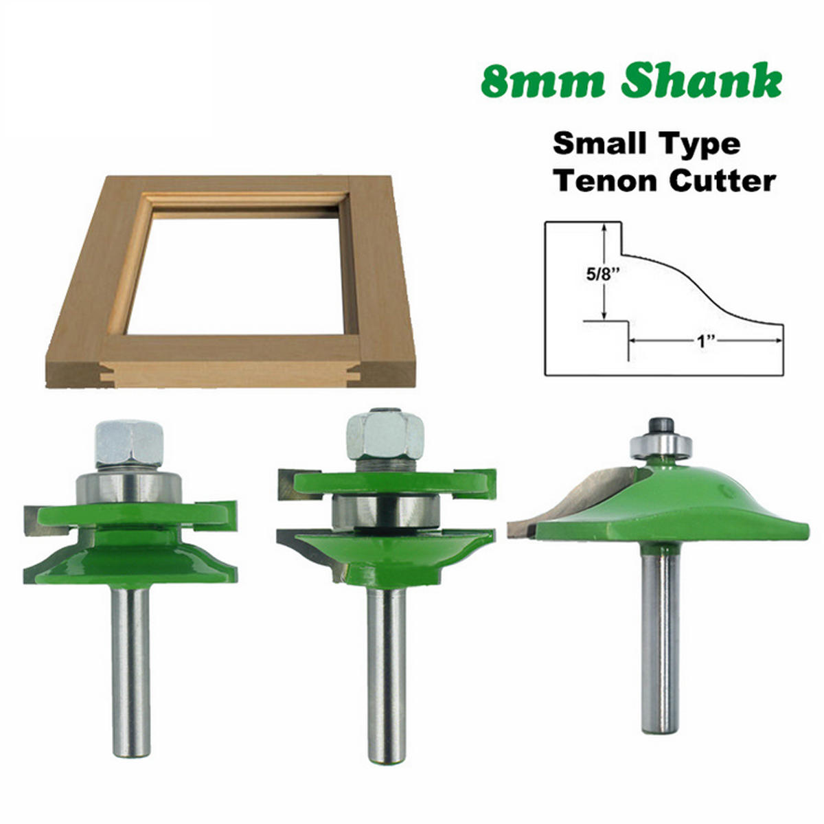 3pcs 1/2 Inch Shank Router Bit Woodworking Tool - 5
