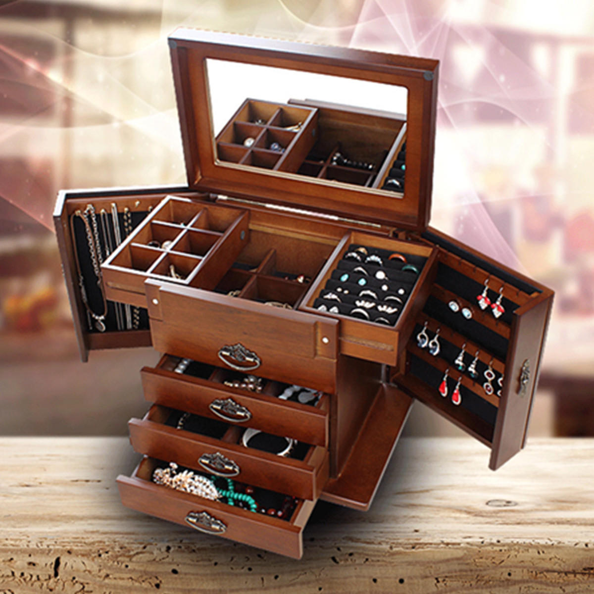 Wooden Jewelry Storage Box Cheaper Than Retail Price Buy Clothing Accessories And Lifestyle Products For Women Men