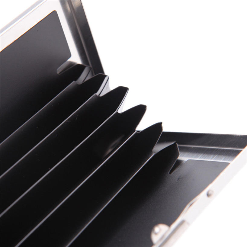 Metal Stainless Steel Black Titanium Business Card Holder Credit Card Cover ID Name Card Holder Case Storage Box - 7