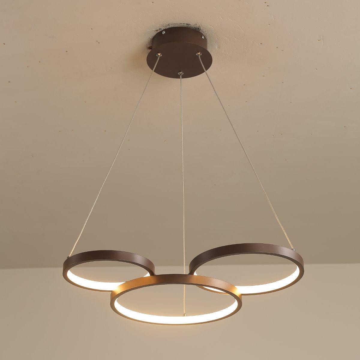 3 Ring Pvc Led Pendant Lamp Ceiling