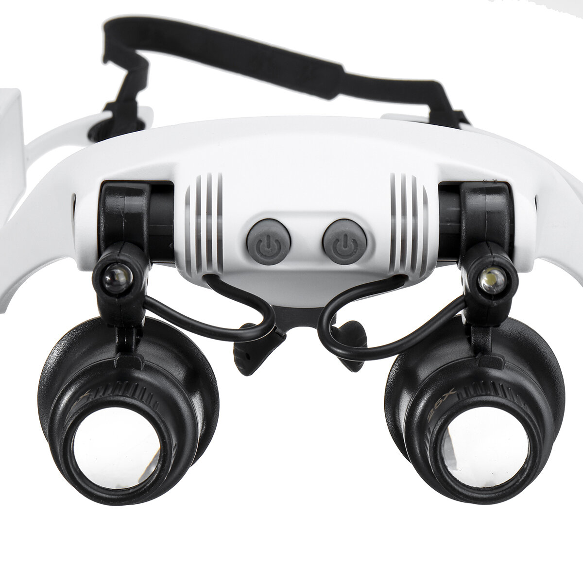 10X 15X 20X 25X LED Magnifying Glasses Jewelry Loupe Magnifier Binocular Loupe Glasses with Light Enlargement Mirror - 4