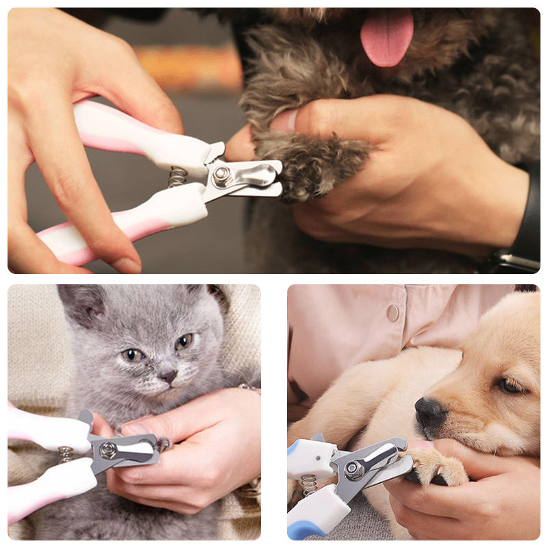 Pet Nail Clipper Stainless Steel Professional Trimmer For Dog Cat Grooming Tool - 4