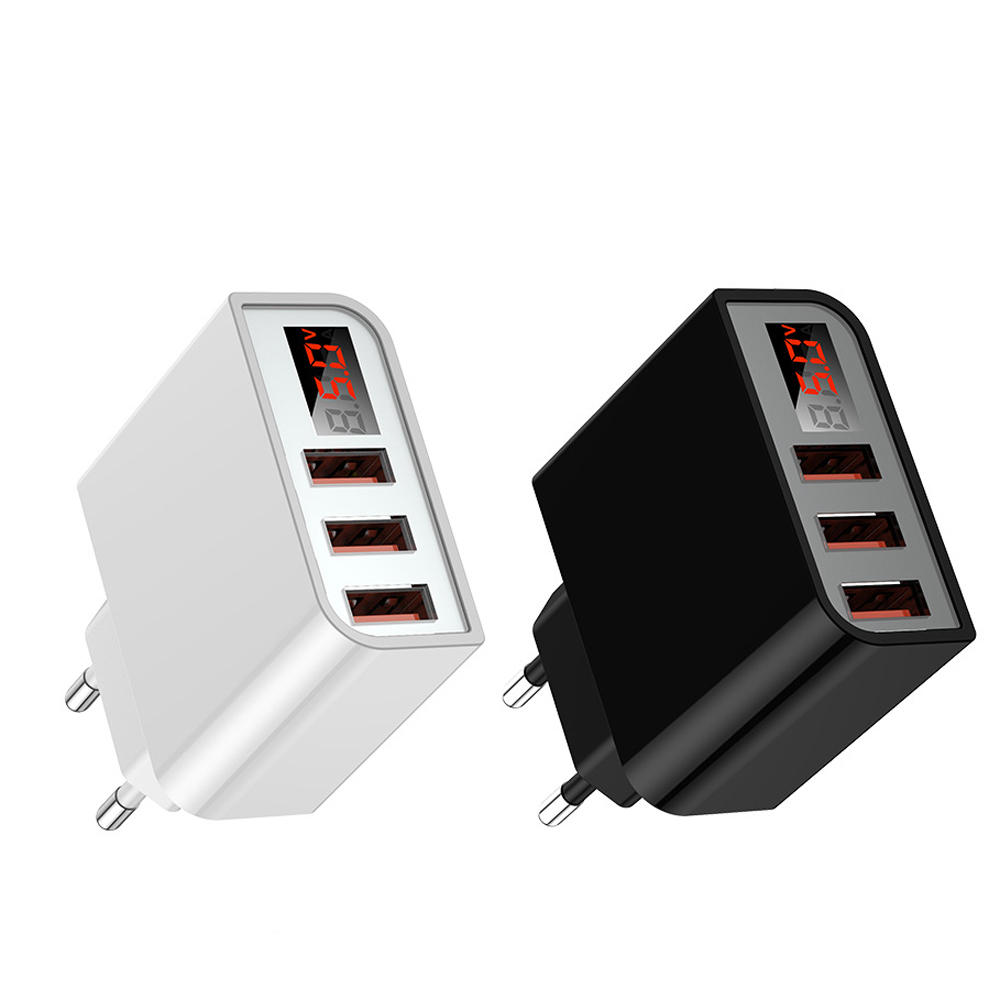 Bakeey 3.4A Multi USB Port LED Digital Display Fast Charging EU Plug USB Charger Adapter For iPhone 11 Pro Huawei P30 Pro Mate 30 Xiaomi 9 Pro S10+ Note10