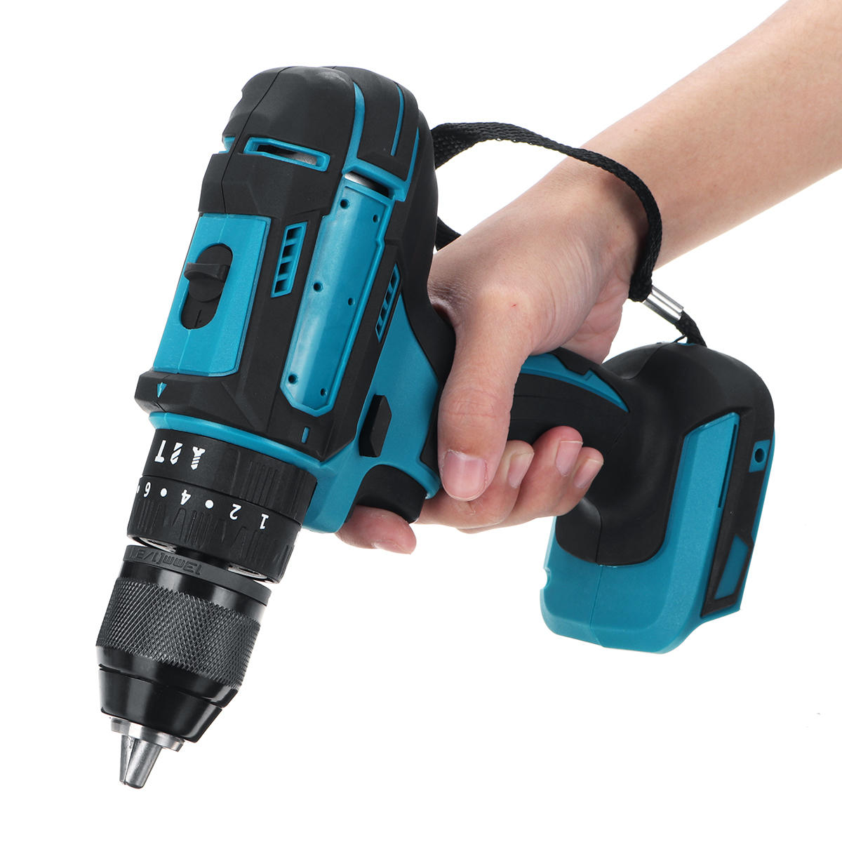 10mm Chuck Brushless Impact Drill 350N.m Cordless Electric Drill For Makita 18V Battery 4000RPM LED Light Power Drills - 8