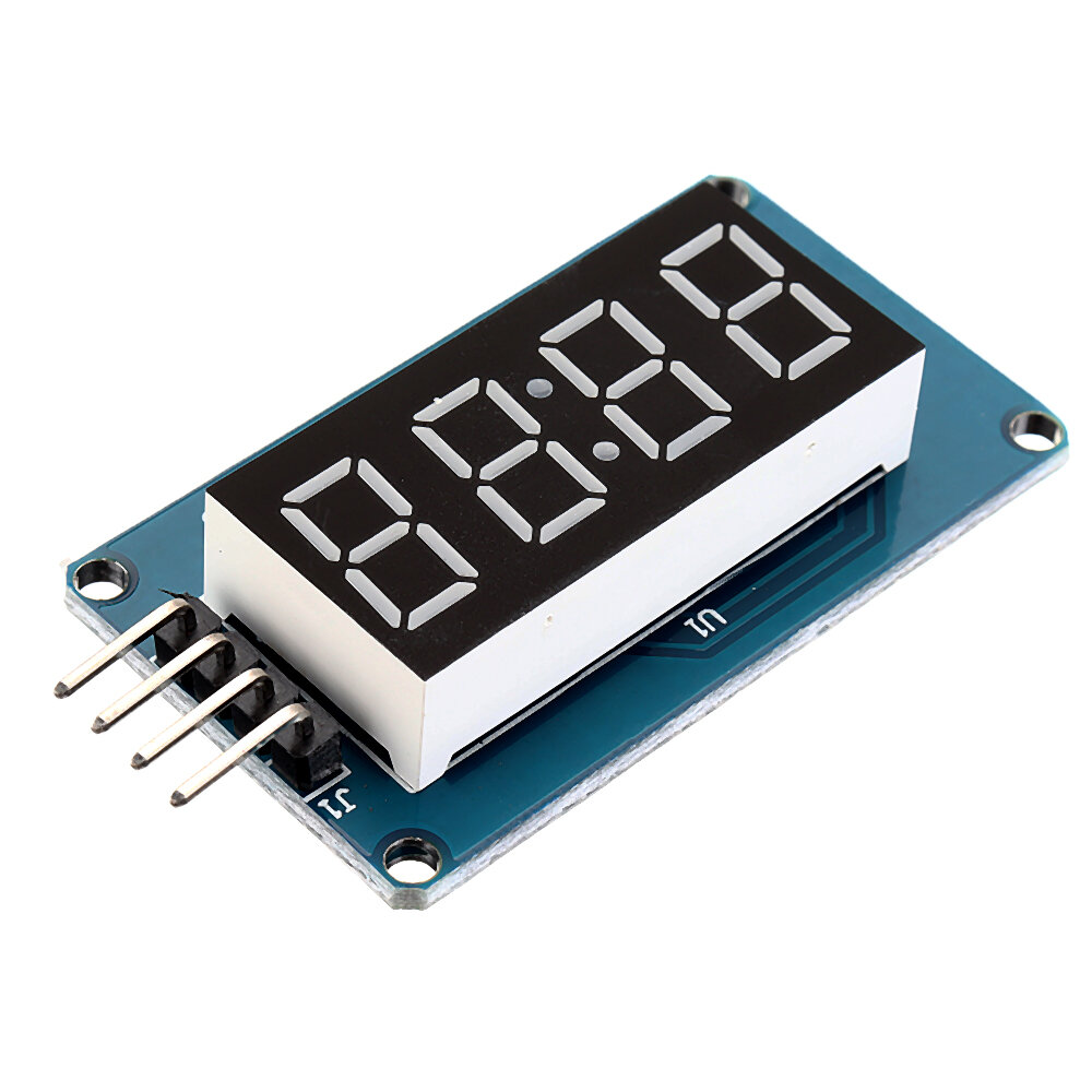 TM1637 4 Bits Digital LED Display Module 7 Segment 0.36 Inch RED Anode Tube Four Serial Driver Board For Arduino