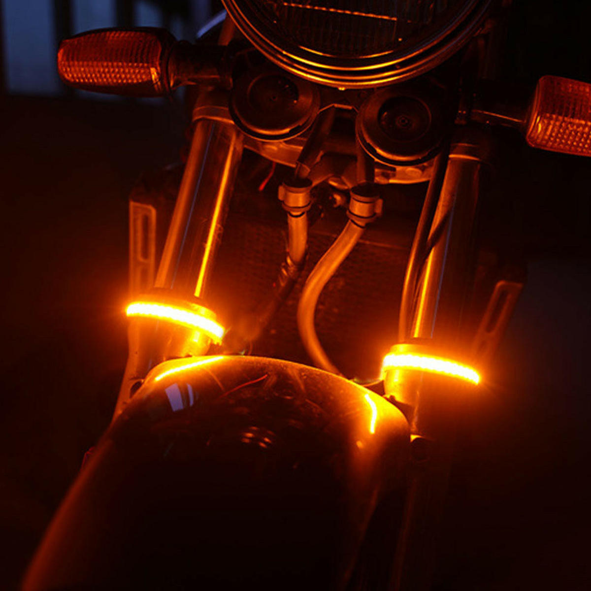 Motorcycle License Plate Holder Bracket LED Rear Light 12V CNC Fender For YAMAHA BWS - 4