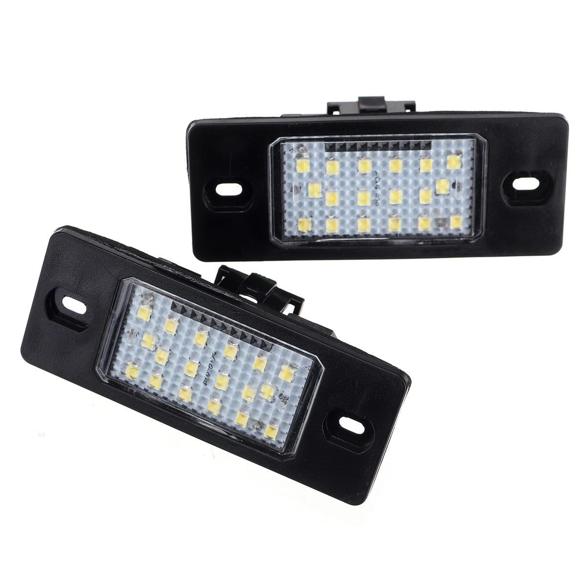 2 piezas Coche LED Número de licencia Placa Luces luces traseras 12V para Porsche Cayenne VW Touareg
