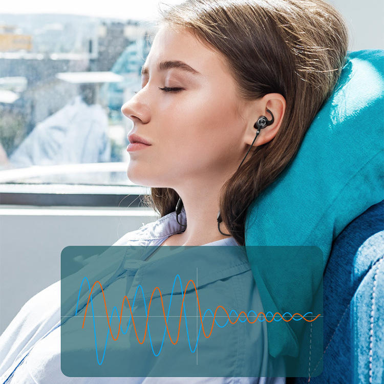 Sansui I55 bluetooth 5.0 Earphone Wireless Neckband 8D Surround Noise Cancelling Magnetic Bass Sports Headphone with Mic for iPhone Xiaomi Huawei - 5