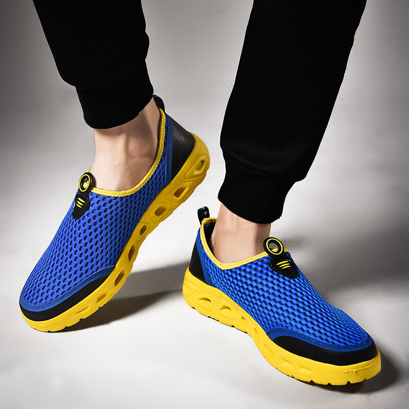 Lightweight Hollow Out Casual Sport Shoes In Mesh Sneakers - 12