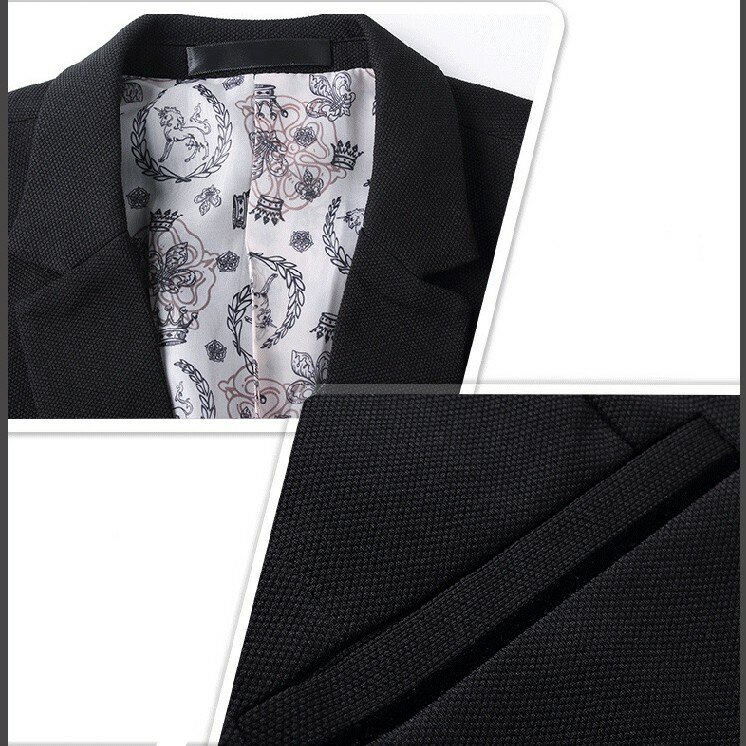 Men's Korean Solid Youth Slim Jacket Small Casual Suits - 8