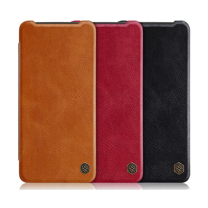 NILLKIN OnePlus 7T Qin Series Vintage Flip Card Slot Holder PC Bumper PU Leather Protective Case