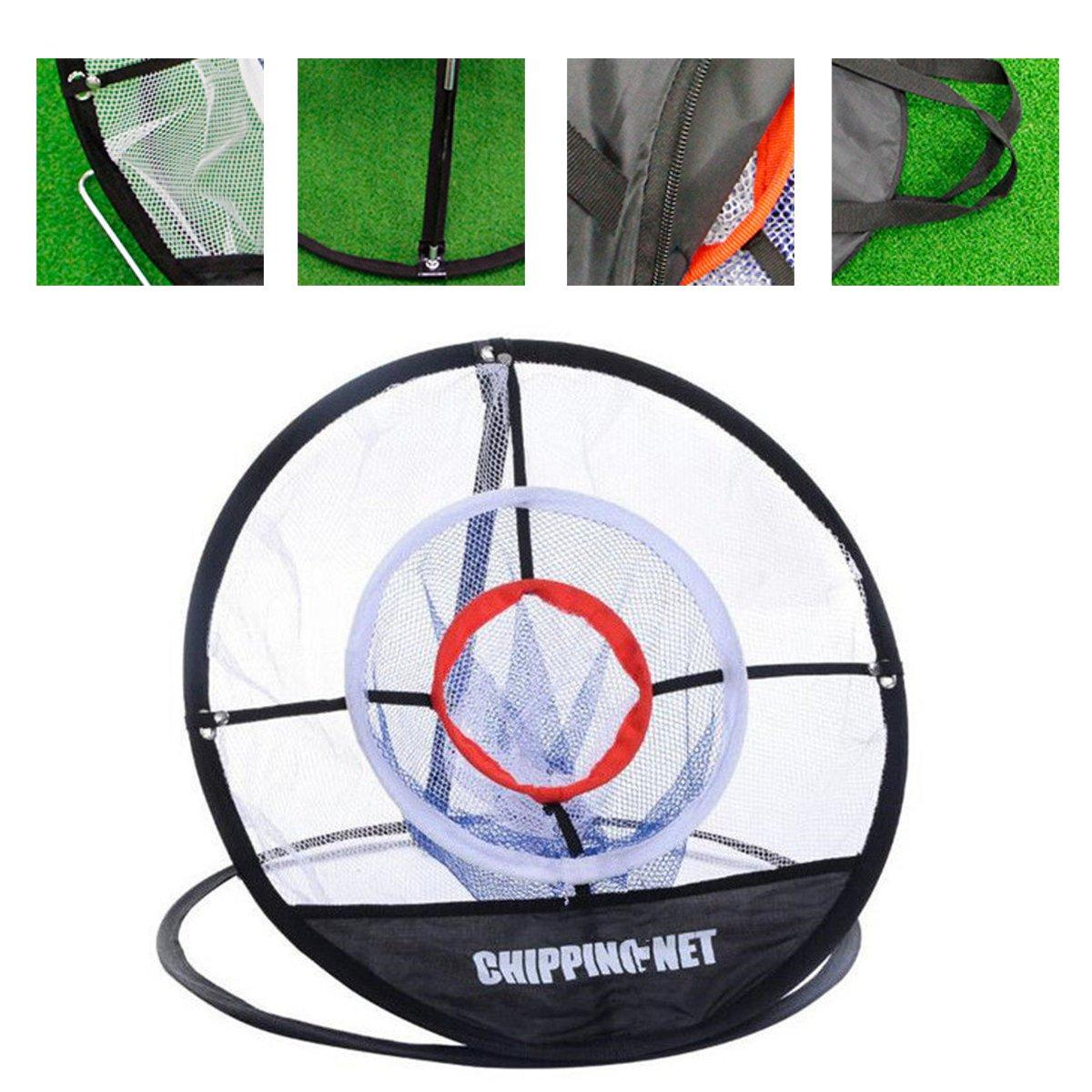 Golf Chipping Pitching Practice Net Hitting Cage Outils d'aide à la formation en plein air - 1