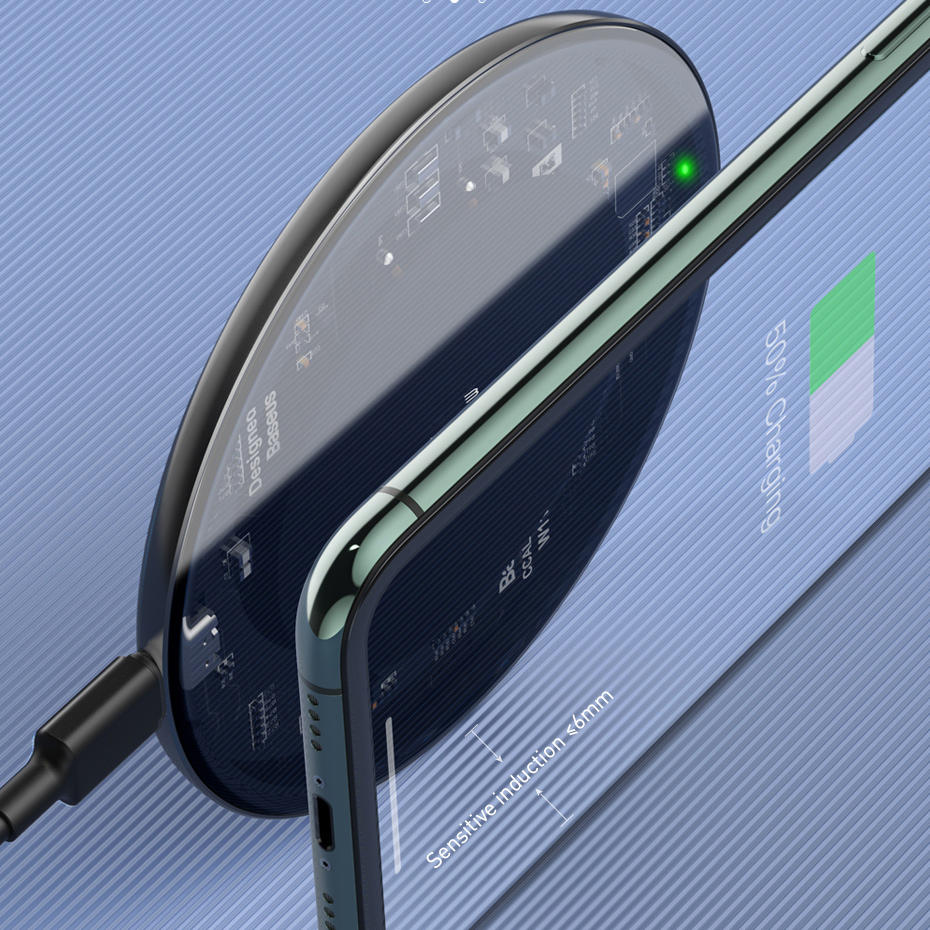 Bakeey QI 10W Fast Charge 3 In 1 Wireless Charger Charger Dock For Samsung Wireless Charge Stand For Iphone for Apple Watch for Airpods Pro - 9
