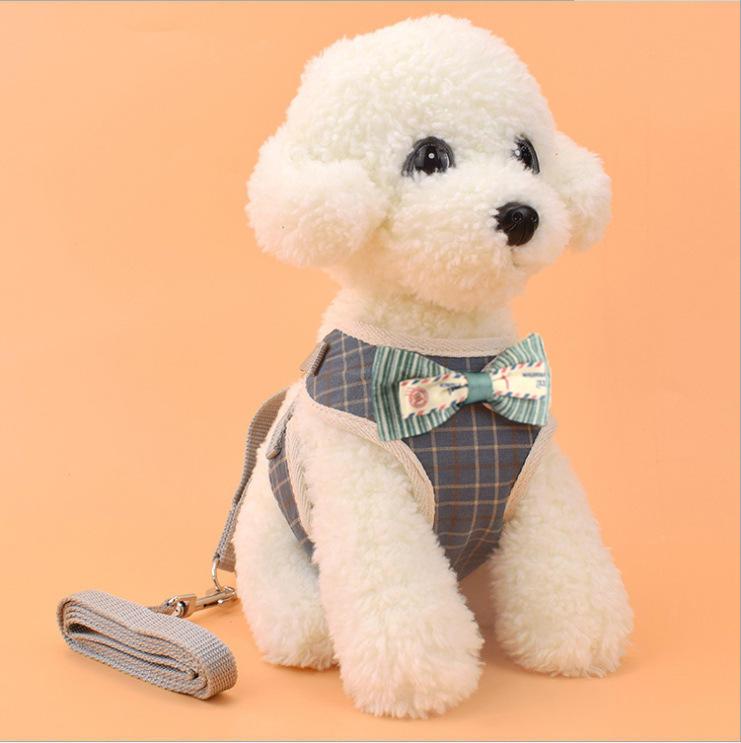 Pet Strap Leash Собака Маленький Собака Vest-Style Bow Evening Платье Нагрудный ремень Собака И Кот Универсальный Собака фото