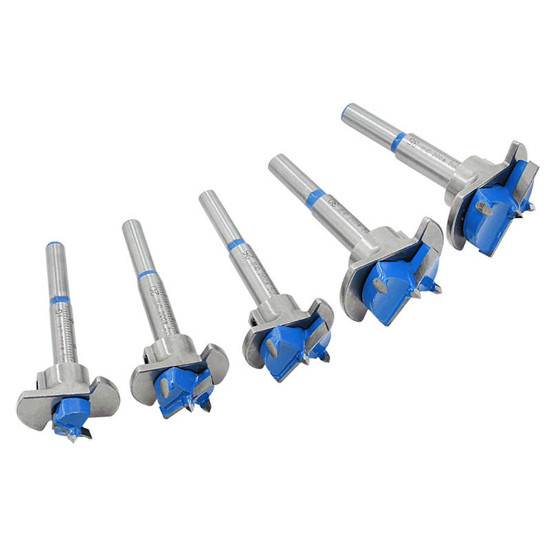 Drillpro Blue 15 20 25 30 35mm Forstner Drill Bit Wood Auger Cutter Hex Wrench Woodworking Hole Saw For Power Tools