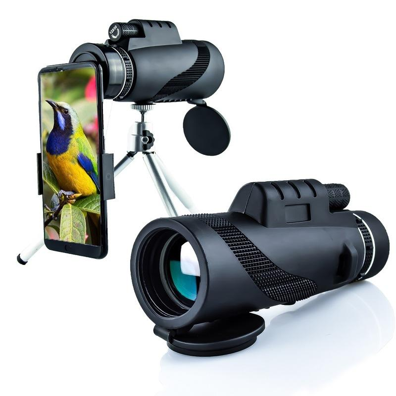 IPRee® 40x60 Monocular HD Optical BAK4 2000T Lens Telescope Day Night Vision 1500m/9500m+Tripod+Phone Clip
