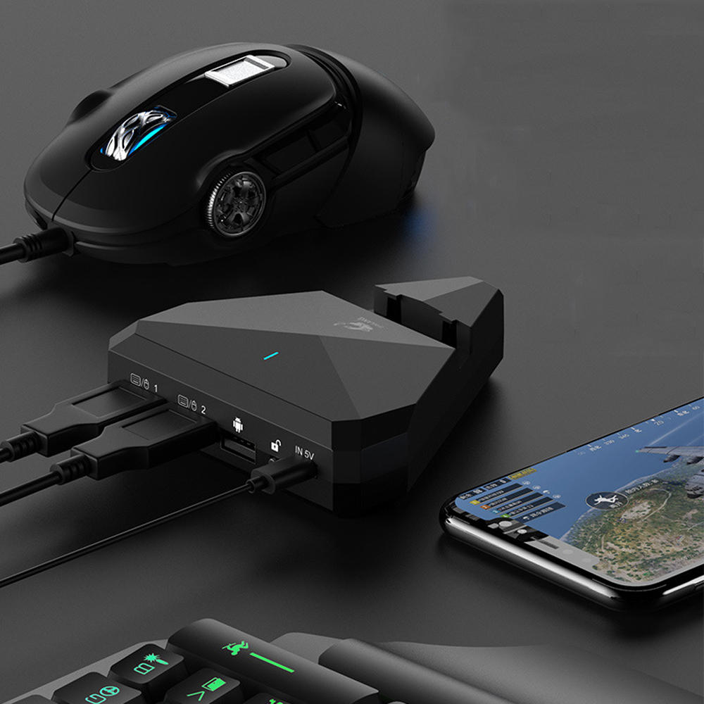 Bakeey Bluetooth 4.0 Gaming Wired Wireless Smart Connection With Triangle Bracket Charging Gamepad For iPhone X XS HUAWEI P30 Mate20 Pro Oneplus 7 XIAOMI MI9 S10 S10+ - 1
