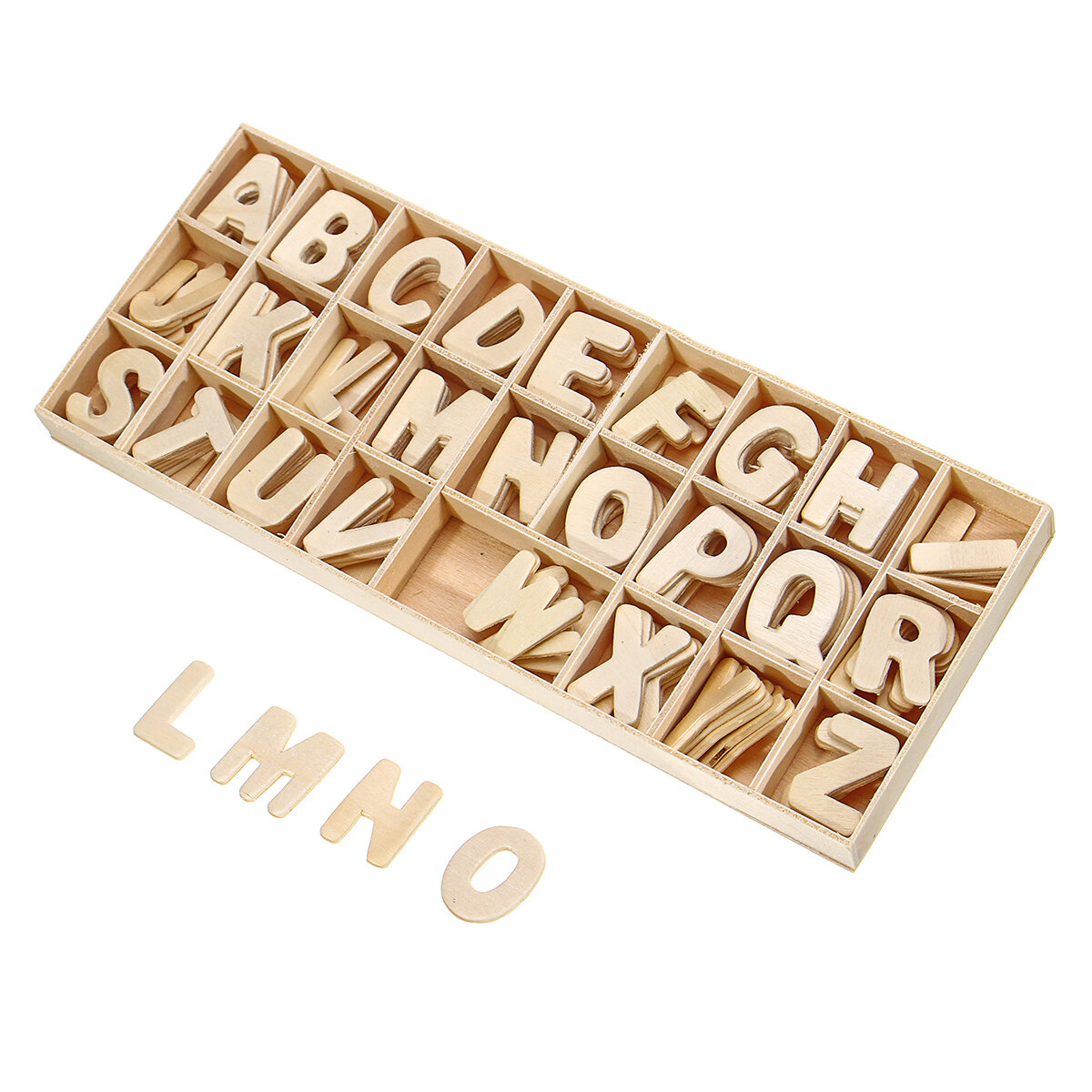 156X Wooden Scrabble Tiles Letters Puzzle Blocks Crafts Wood Alphabet Kids Early Education Toys Gift - 3