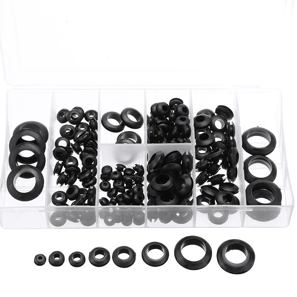 Suleve™ MXRW5 180Pcs Rubber O Ring Washer Grommets Ring Anti-slip Gasket Seal Assortment Set фото